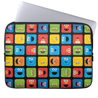 Sesame Street Cubed Faces Pattern Laptop Sleeve