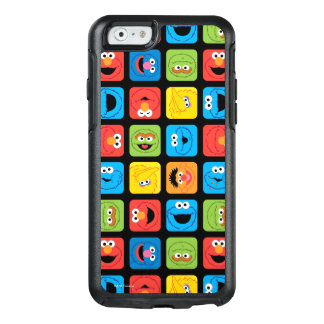Sesame Street Cubed Faces Pattern OtterBox iPhone 6/6s Case
