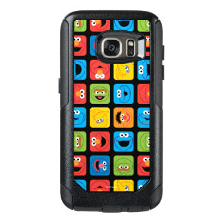 Sesame Street Cubed Faces Pattern OtterBox Samsung Galaxy S7 Case
