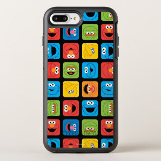 Sesame Street Cubed Faces Pattern OtterBox Symmetry iPhone 8 Plus/7 Plus Case