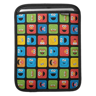 Sesame Street Cubed Faces Pattern Sleeve For iPads