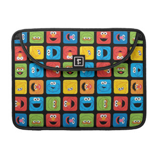 Sesame Street Cubed Faces Pattern Sleeves For MacBooks