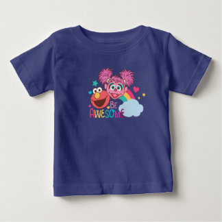 Sesame Street   Elmo & Abby - Be Awesome Baby T-Shirt