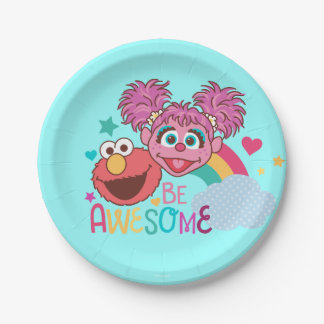 Sesame Street | Elmo & Abby - Be Awesome Paper Plate