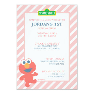 Sesame Street | Elmo - Baby Birthday Invitation