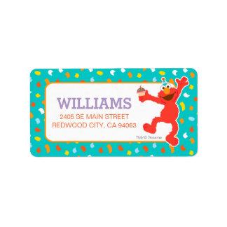 Sesame Street | Elmo - Cupcake & Confetti Birthday Address Label