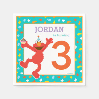 Sesame Street | Elmo - Cupcake & Confetti Birthday Disposable Serviette