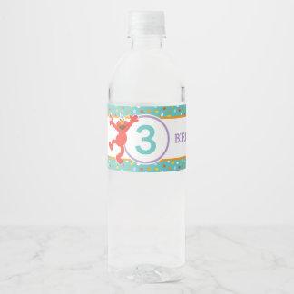 Sesame Street | Elmo - Cupcake & Confetti Birthday Water Bottle Label