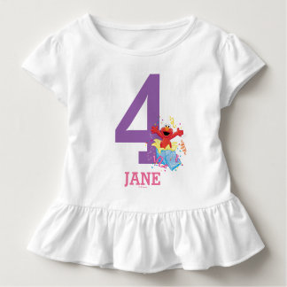 Sesame Street | Elmo Girl's 4th Birthday Toddler T-Shirt