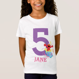 Sesame Street   Elmo Girl's 5th Birthday T-Shirt