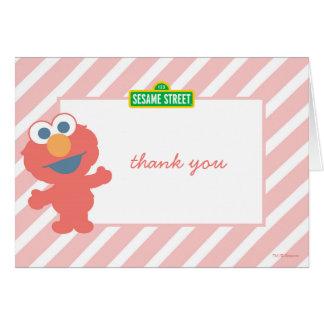 Sesame Street | Elmo - Pink Thank You Card