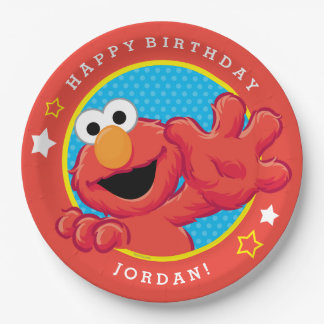 Sesame Street | Elmo - Polka Dot & Stars Birthday  Paper Plate