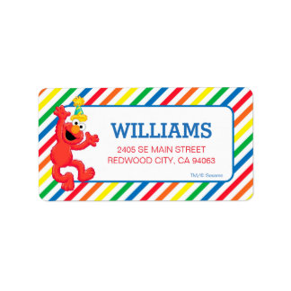Sesame Street | Elmo - Rainbow Birthday Address Label