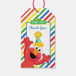 Sesame Street | Elmo - Rainbow Birthday Thank You Gift Tags