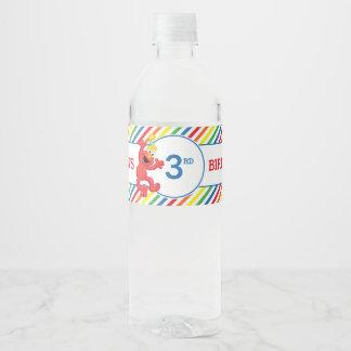 Sesame Street | Elmo - Rainbow Birthday Water Bottle Label