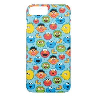 Sesame Street Faces Pattern on Blue iPhone 8 Plus/7 Plus Case