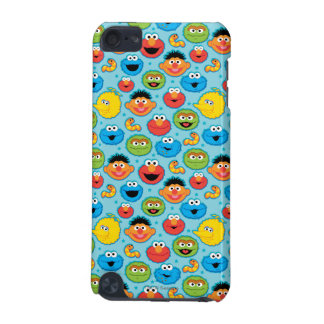 Sesame Street Faces Pattern on Blue iPod Touch (5th Generation) Case