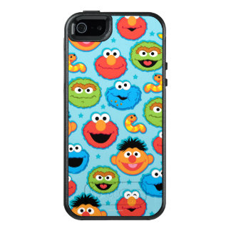 Sesame Street Faces Pattern on Blue OtterBox iPhone 5/5s/SE Case