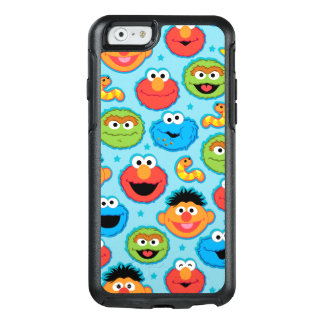 Sesame Street Faces Pattern on Blue OtterBox iPhone 6/6s Case