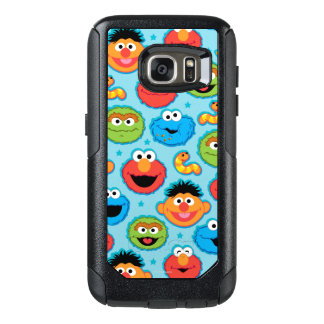 Sesame Street Faces Pattern on Blue OtterBox Samsung Galaxy S7 Case