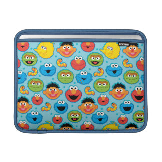 Sesame Street Faces Pattern on Blue Sleeve For MacBook Air