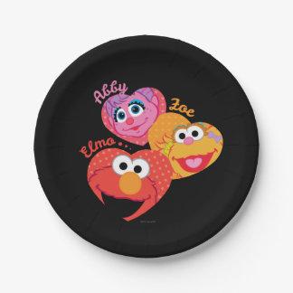 Sesame Street Friends Paper Plate