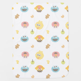 Sesame Street Furry Friends Character Pattern Baby Blanket