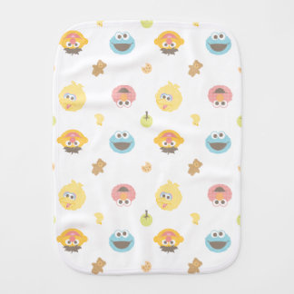 Sesame Street Furry Friends Character Pattern Burp Cloth