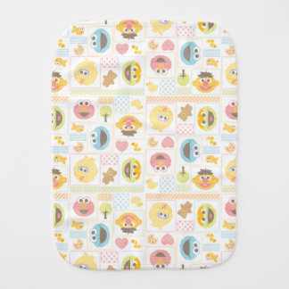 Sesame Street Furry Friends Pattern Burp Cloth