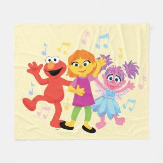 Sesame Street   Julia, Elmo & Abby Dancing Fleece Blanket