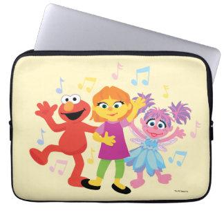 Sesame Street | Julia, Elmo & Abby Dancing Laptop Sleeve
