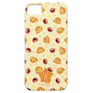 Sesame Street   Julia & Elmo Yellow Star Pattern Case For The iPhone 5