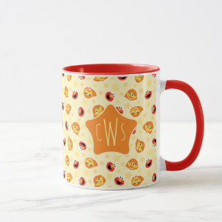 Sesame Street | Julia & Elmo Yellow Star Pattern Mug