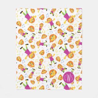 Sesame Street   Julia Music Pattern Fleece Blanket