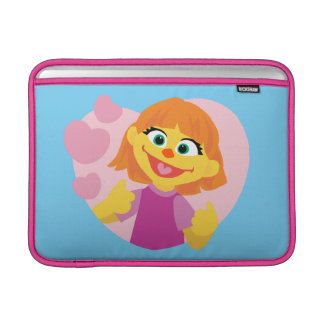 Sesame Street | Julia Pink Heart MacBook Sleeve