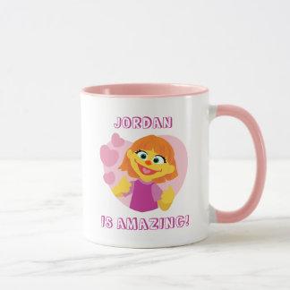 Sesame Street | Julia Pink Heart Mug