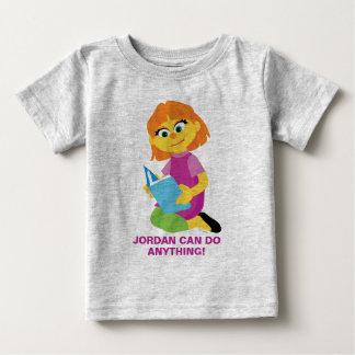 Sesame Street   Julia Reading a Book Baby T-Shirt