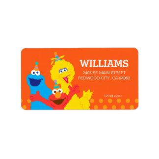 Sesame Street Pals Address Label