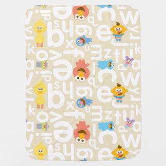Sesame Street Pals Alphabet Pattern Baby Blanket