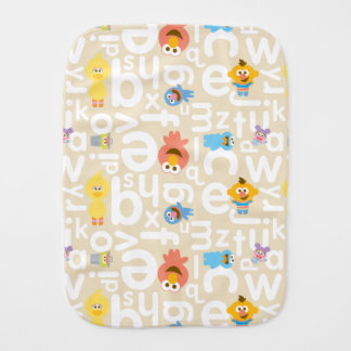 Sesame Street Pals Alphabet Pattern Burp Cloth