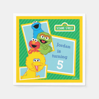 Sesame Street Pals Birthday Paper Serviettes