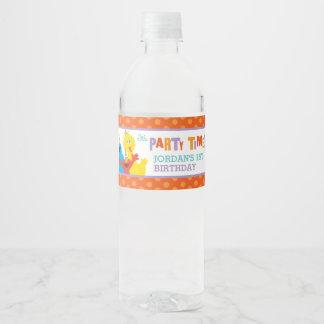 Sesame Street Pals Birthday Water Bottle Label