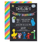 Sesame Street Pals Chalkboard Rainbow Birthday Card