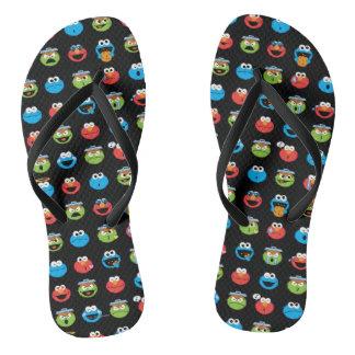 Sesame Street Pals Emoji Pattern Flip Flops