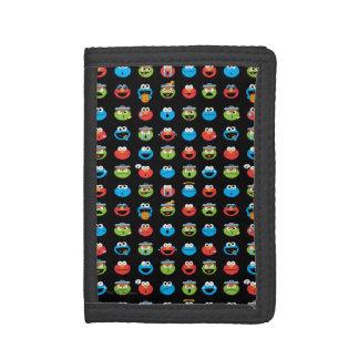 Sesame Street Pals Emoji Pattern Trifold Wallet