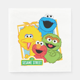 Sesame Street Pals Paper Serviettes