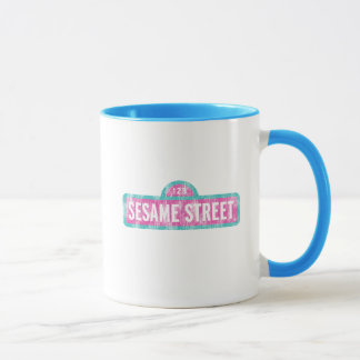 Sesame Street Pink Sign Logo Mug