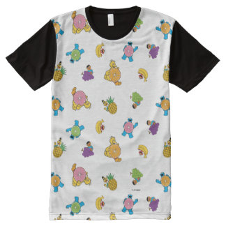 Sesame Street Tropical Pattern All-Over Print T-Shirt