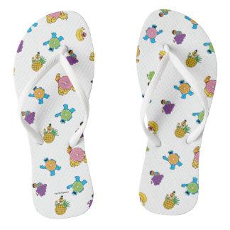 Sesame Street Tropical Pattern Flip Flops