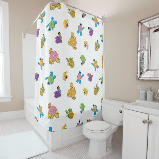 Sesame Street Tropical Pattern Shower Curtain
